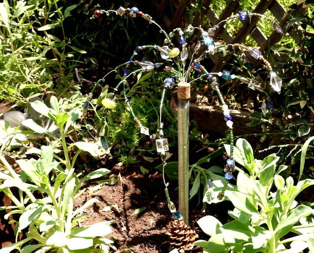 How to Make Your Own Glass Beaded Garden Sparklers | eHow