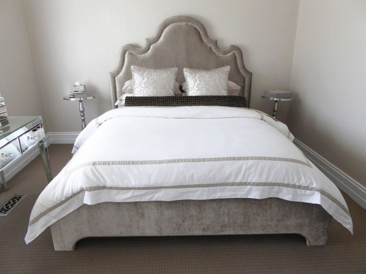 Luxurious Upholstered Bed Head and Base