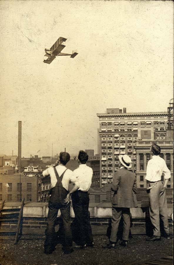 This Day in St. Louis History: March 12, 1920  A bill for the regulation of aircraft flying across St. Louis skies was put before the Board of Aldermen for the first time. It prohibited any aircraft crossing over a ground assembly of more than 100 people, set the minimum clearance over buildings at 300 feet, and banned dropping objects from aircraft. At the time, the tallest building in St. Louis was the Railway Exchange Building, at 277 feet.