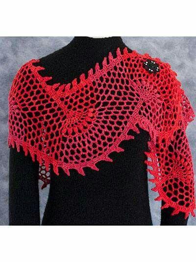 Floral fantasy shawl e-pattern.com Crochet - Scarfs ...