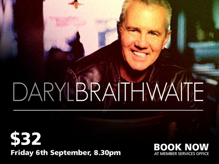 It would be hard to find a voice that captures the mood of a song more perfectly than this on. It's the voice that soars with inspiration, soul and warmth. The voice of course belongs to Australian singer Daryl Braithwaite. In a distinguished career spanning more than 30 years, Daryl Braithwaite is one of Australia's award winning premier performers.