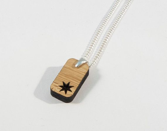 Bamboo Star Pendant by BeamDesigns on Etsy
