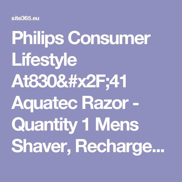 Philips Consumer Lifestyle At830/41 Aquatec Razor - Quantity 1 Mens Shaver, Rechargeable