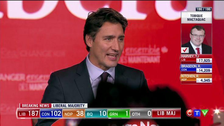 Justin Trudeau Victory Speech: In Canada, Better Is Always Possible  - GEAR International #gearotc www.gear.international $GEAR #cannaworxinc #cannaworx