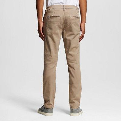 Chor Men's Slim Fit Stretch Tapered Chino Pants - Khaki (Green) 32x32