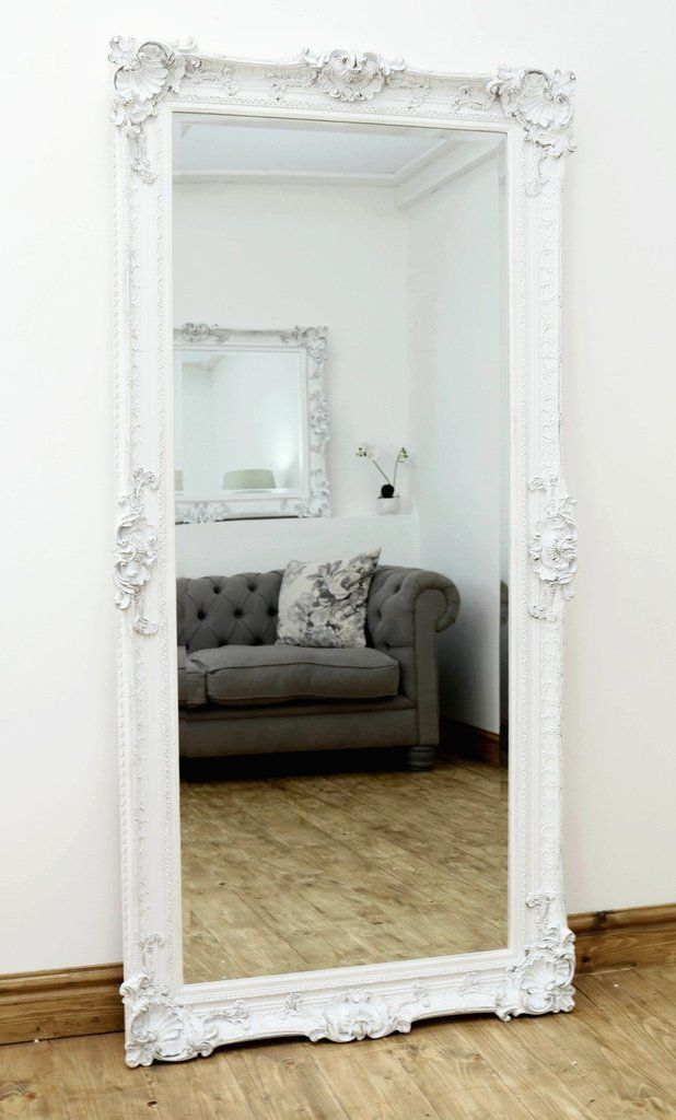 Pin On White Floor Mirror, Oversized White Leaner Mirror