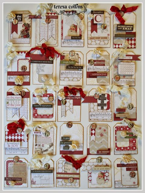 TERESA COLLINS DESIGN TEAM: Teresa Collins eBosser 'In Time for the Holidays' Blog Hop! Advent Tutorial by Cheri Piles