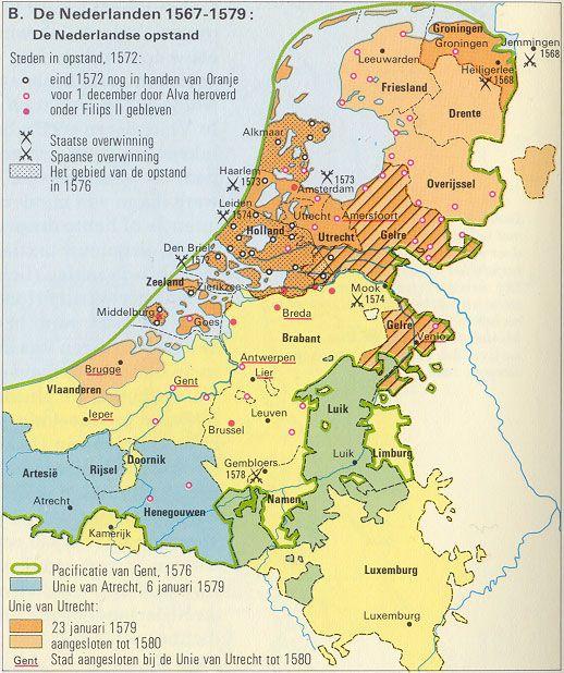De Nederlandse Opstand in de periode 1567 tot 1579