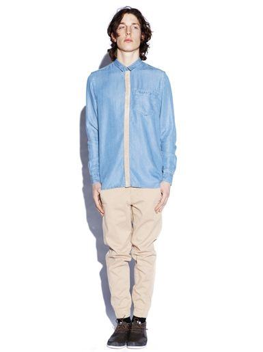 Svein Woven Shirt - Light Blue » Freudian Kicks x Røyksopp » Designers » Freudian Kicks
