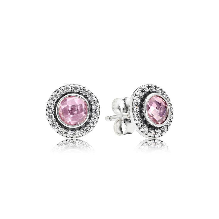 bd90b3884 ... greece pandora statement pink sparkling stud earrings fdc6b 1ba67
