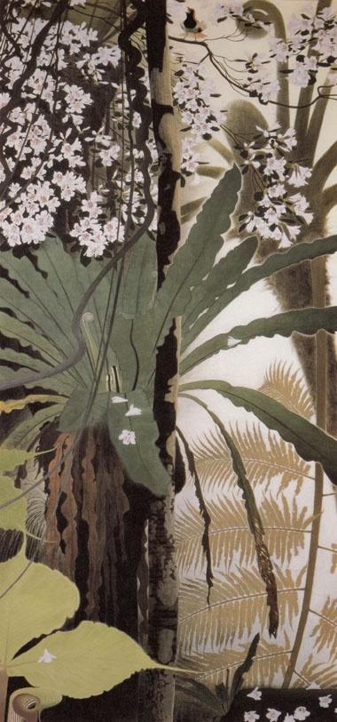 桜躑躅に赤髭 Isson Tanaka