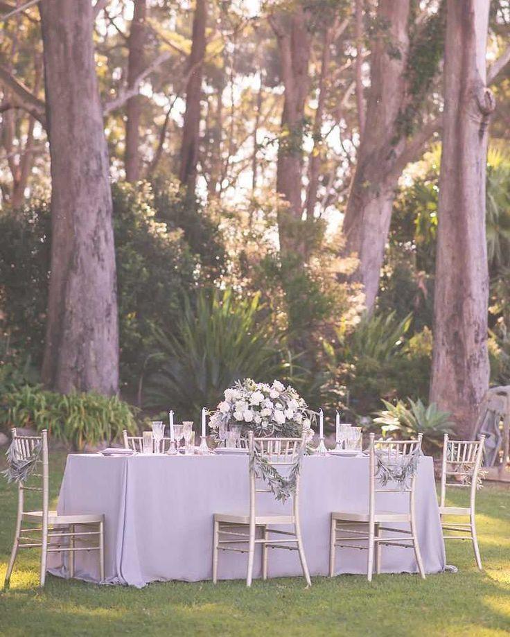 Elegant and Modern Australian Wedding Theme. Grey/Silver and white