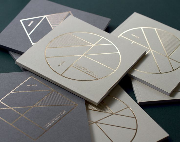 Notebooks with gold foil – by Kristina Krogh www.kkrogh.dk