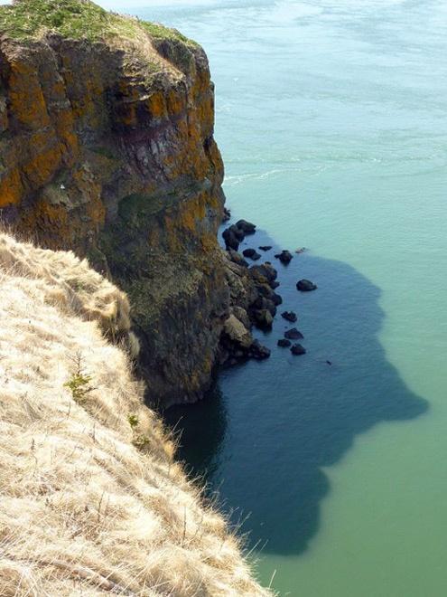 The profile of Glooscap, Cape Split, Nova Scotia.
