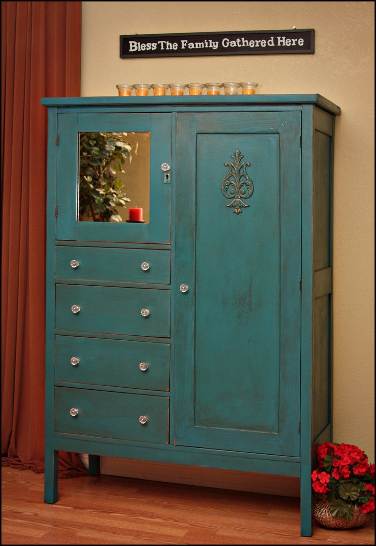 teal antique | wardrobe | The Ordinary Made Extraordinary - Best 25+ Antique Wardrobe Ideas On Pinterest Vintage Wardrobe