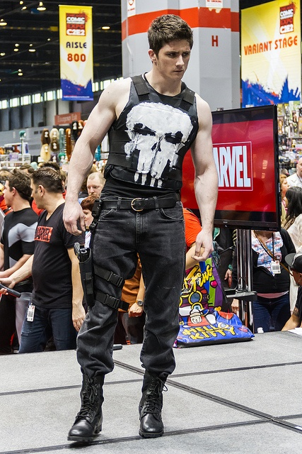 Punisher at C2E2 2012 Marvel Costume contest...All I have to say is he can punish me anytime!