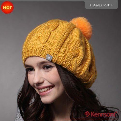 Праздничная распродажа горячая распродажа мода зимняя шапка, Ручной вязки шапочка hat, Исландский шерсть шапочка 1121 - 40 горчично-желтый