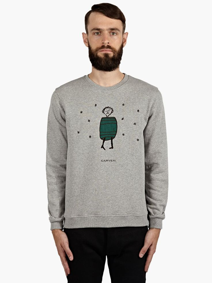 Carven Men's Grey Barrel Motif Sweatshirt | oki-ni