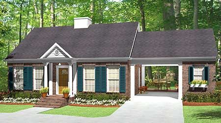 Plan 62123v house plans breezeway and house for Breezeway flooring ideas