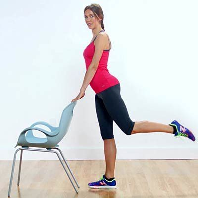 Try these exercises, like this standing glute toner, that tighten and tone your legs from butt to ankles and everything in between. | Health.com