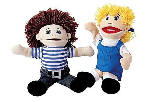 Excellerations Caucasian Girl & Boy Puppet Pair (Item # KIDPUPC)