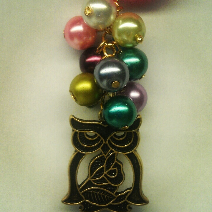 Owl cluster pearl necklace