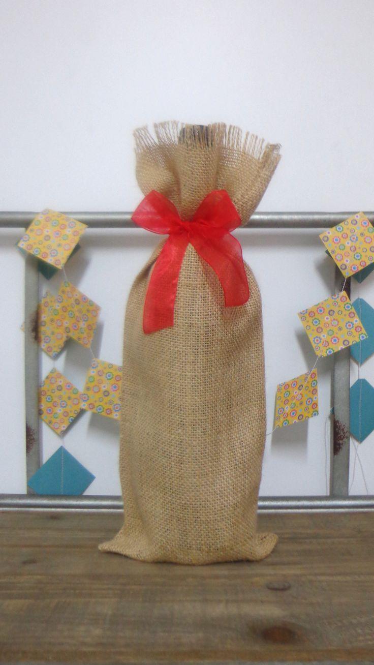 http://www.misdetallesdeboda.com Bolsa para botella regalo de navidad
