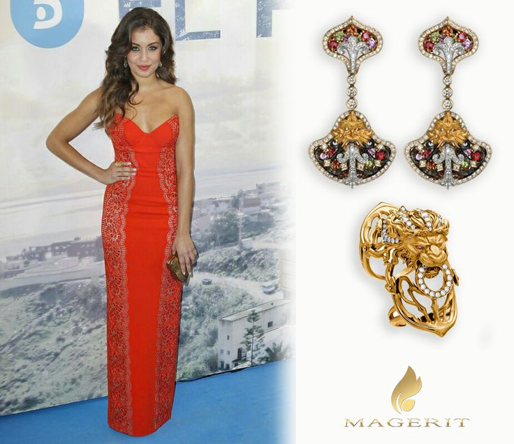 "Hiba Abouk, bellísima en el estreno de la nueva serie de Telecinco ""El Príncipe"".   - Pendientes (Colección Versailles) - Sortija (Colección Gothic)   Spanish actress Hiba Abouk, looked gorgeous at the premiere of the spanish TV Show ""El Príncipe"".  - Earrings (Versailles Coleccion) - Ring (Gothic Collection) #Magerit #jewels #HibaAbouk #celebrities"