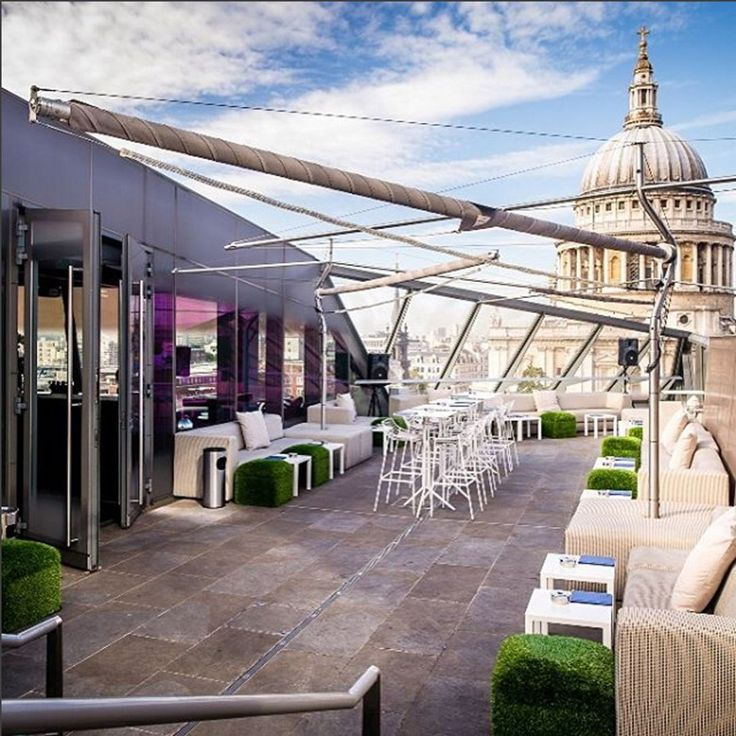 London's Best Rooftop Bars #refinery29  http://www.refinery29.uk/london-best-rooftop-bars-sunny#slide-2  Madison, One New ChangeEveryone will feel at home at One New Change's rooftop space. Sunday is a good time to visit for a bottomless boozy brunch and live music sessions. The view of the city is really something to write home about (or, you know, Instagram), too.St Paul's, 1 New Change, EC4M...