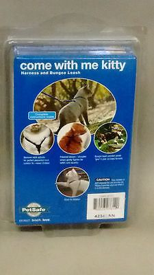 169ma66 Petsafe Come With Me Kitty Harness and Bungee Cat Leash, Medium,Blue