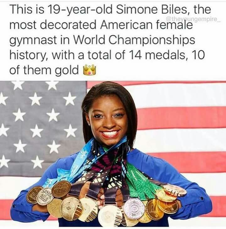 Greatest gymnast ever. GOAT.