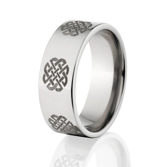 Celtic Wedding Rings Irish Wedding Rings Custom Lasered Celtic