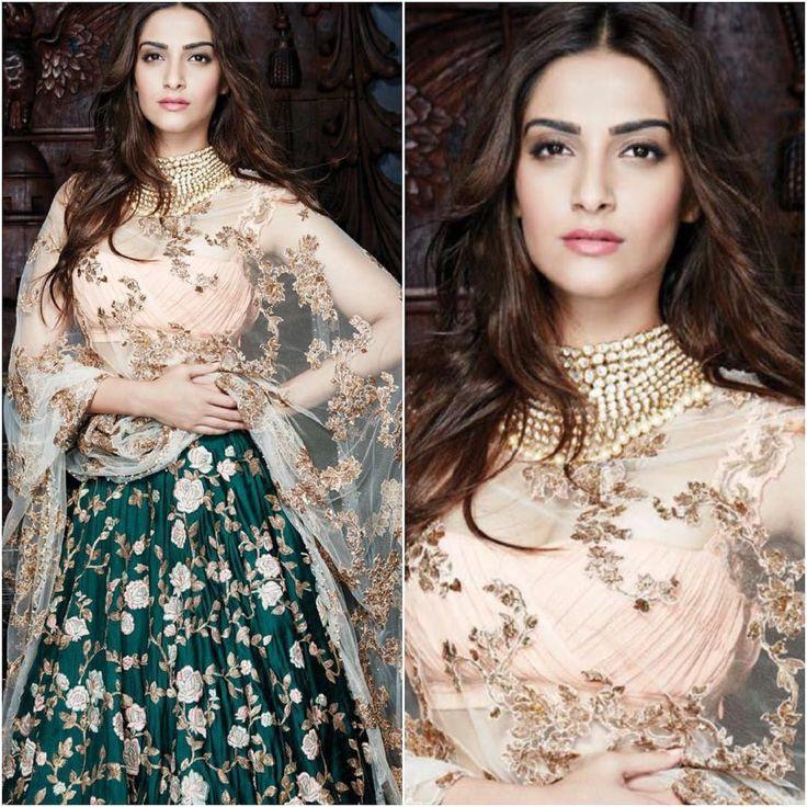 @sonamkapoor on @hiblitzindia  Outfit - @shyamalbhumika  Jewelry - @veenijewels  Styled by - @nazneen.h  #Bollywood #style #fashion #beauty #indianfashion #celebstyle #bollywoodstyle #sonamkapoor