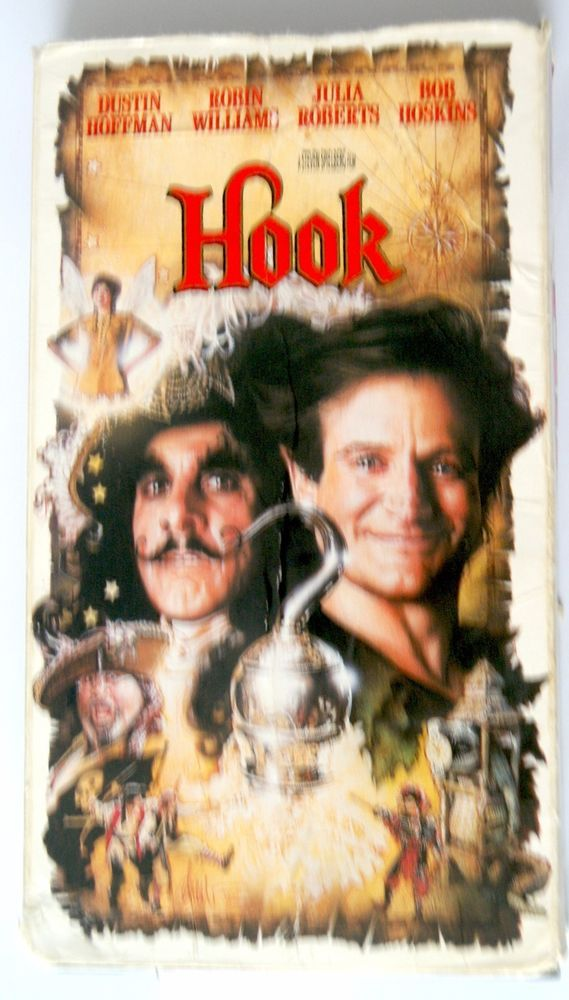 Hook (VHS) Robin Williams - Dustin Hoffman - Julia Roberts - Bob Hoskins