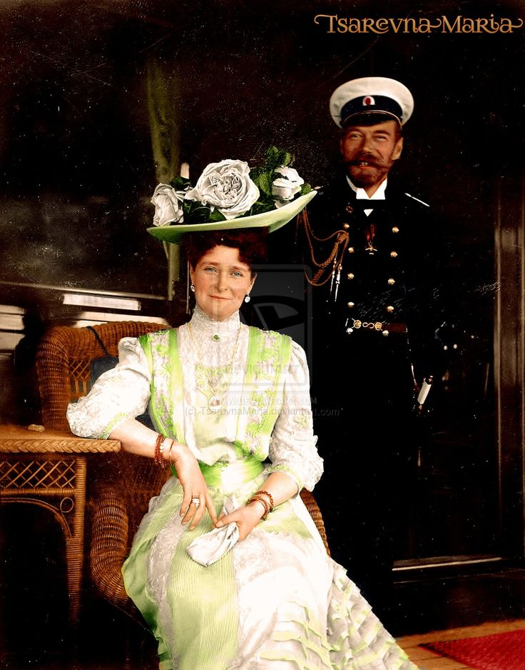 Tsar Nicholas and his wife Alexandra Feodorovna smiling for this wonderful photo of the two of them.