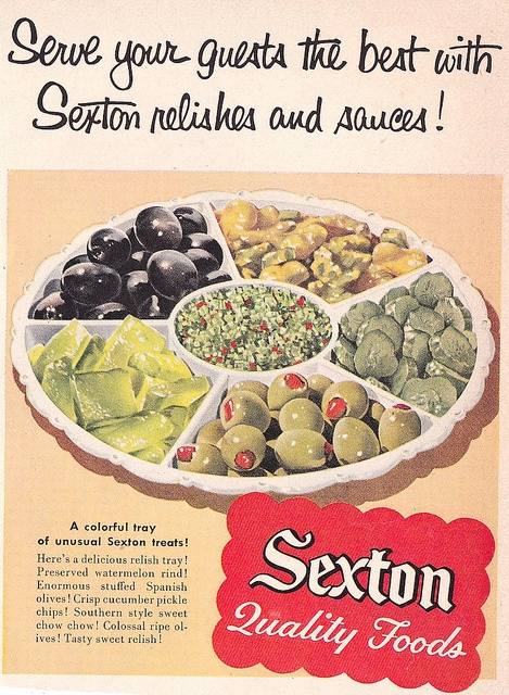 I love classic olive and pickle trays like this and always put one out during the holidays.