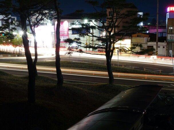 차량 불빛 야경