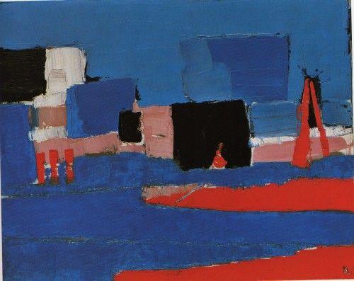 """""""Paysage du Lavandou"""" by Nicolas de Stael"""