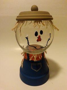 scarecrow claypot candy jar - Google Search