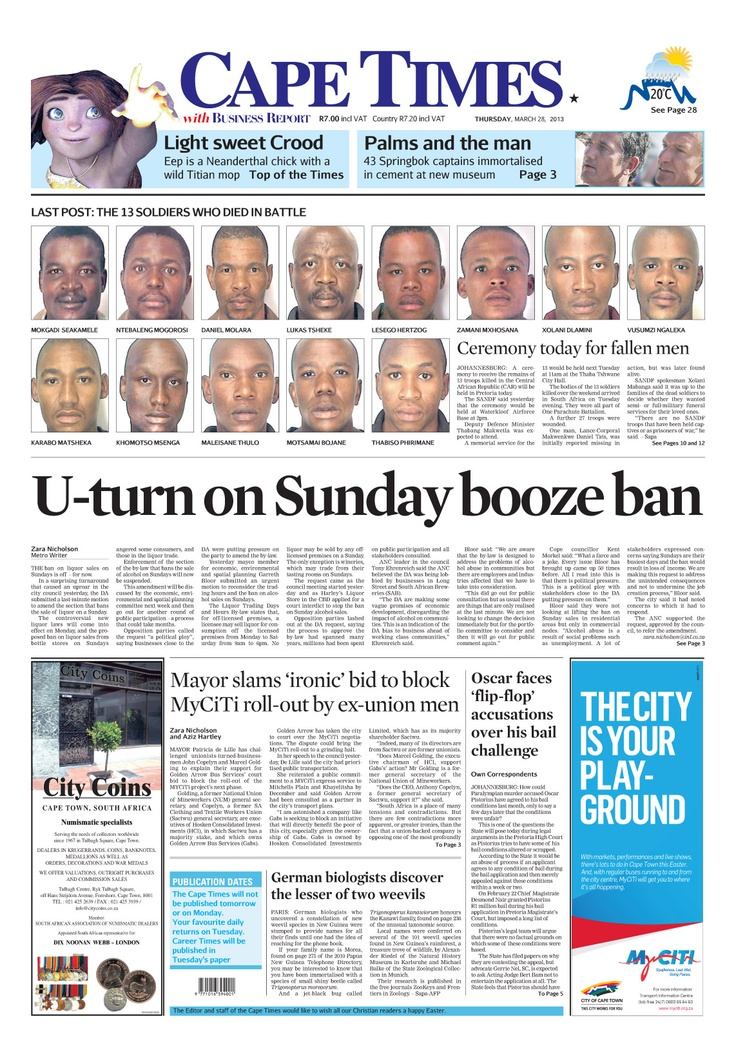 News making headlines:   U-turn on Sunday booze ban
