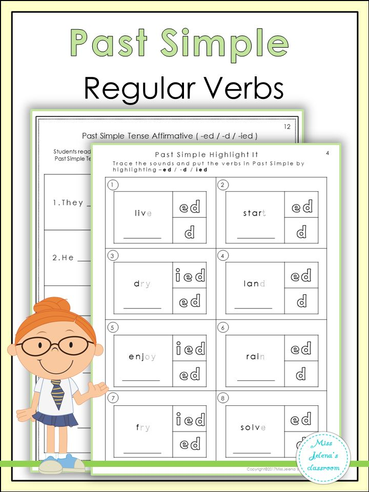 Past Simple Regular Verbs Tpt Language Arts Lessons