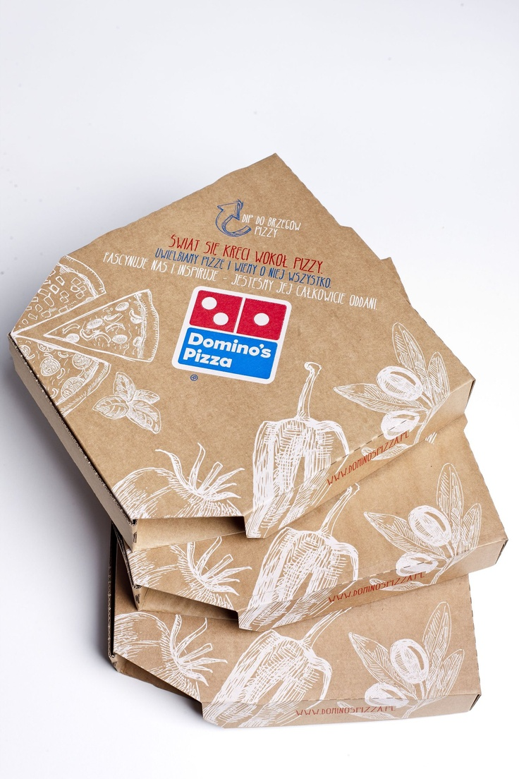 """Czy widzieliście już nową koncepcję komunikacji wizualnej Domino's Pizza Polska? Nowy wygląd pudełek na pizzę, ulotek, menu oraz strony www.entuzjascipizzy.pl opiera się na haśle reklamowym """"Świat się kręci wokół pizzy"""". Smaczne?"""