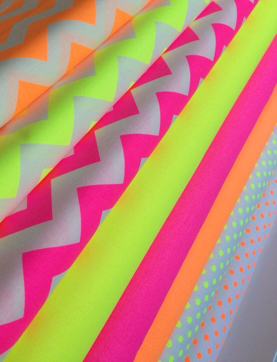 Neon Quilt Or Craft Fabric Bundle By Riley Blake And