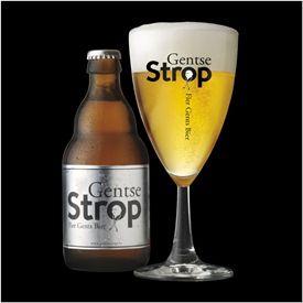 Gentse Strop (brouwerij Roman):  een blond Belgisch speciaalbier van hoge gisting met hergisting op fles