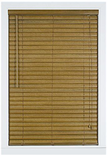 "Achim Home Furnishings Luna 2-Inch Vinyl Blind, 31-Inch by 64-Inch, Woodtone by Achim Home Furnishings. $25.47. Will not chip, dent, or fade. Most popular custom blind made very affordable. Mount inside or outside window frame. Traditional 2"" vinyl blind. Mounting hardware and instructions included. The Luna 2"" Blind is a great value blind as an alternative to custom blinds. It features a slightly woodgrain embossed look and will enhance the look of any room in your hom..."