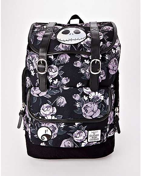 5dd93c41506 Floral The Nightmare Before Christmas Backpack - Disney - Spencer s ...