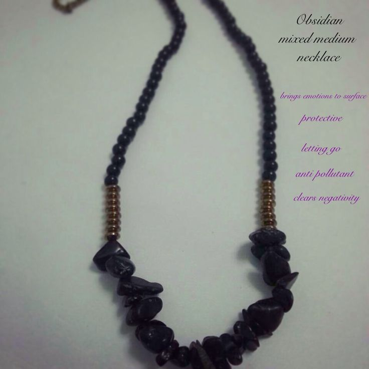 Obsidian mixed medium necklace. Boho. Natural gemstone. Handmade. $10AUD including postage Www.facebook.com/megs.jewellery or releasingthebutterflywithin@gmail.com for orders