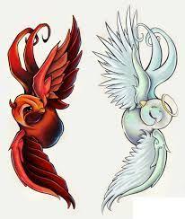 cute angel devil tattoos - Google zoeken