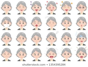 Businesswoman various expressions set. Vector characters isolated on a white bac…