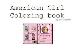 american girl printables | ... on how you can make your American Girl Doll a coloring book